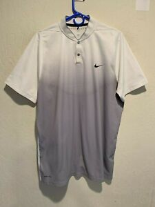 Nike Golf Tiger Woods Collection Dri Fit Performance Shirt Sz XL Gray/White EUC