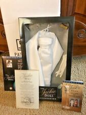Franklin Mint Jackie Doll White Satin Gown