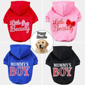 Puppy Dog Clothes Hoodie Small Dogs Chihuahua Pet Warm Bow Sweater Autumn Winter