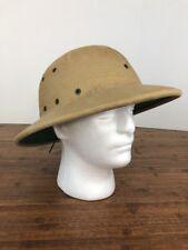Vintage safari jungle tan helmet / hat -adjustable -1970'S