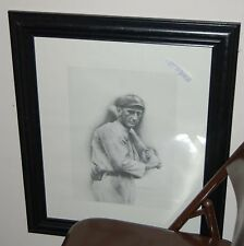 Shoe less Joe Jackson framed and matted picture