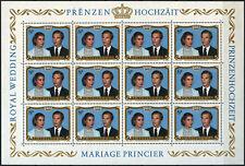 Luxembourg 1981 sg#1071 Royal Wedding Neuf sans charnière Sheet #d62308