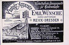 Photograf. Industrie Emil Wünsche AG Reick bei Dresden Reklame 04 Werbung 1905
