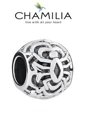 Genuine CHAMILIA 925 sterling silver TANGLE WEB SPIDER charm bead, Halloween