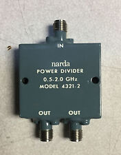 Narda 4321-2 2-Way, 0.5 to 2.0 GHz SMA (F) RF Power Divider