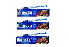 Bimectin Ivermectin 1.87% Paste 3 Tubes Wormer Parasites Apple Horse Tack Otc