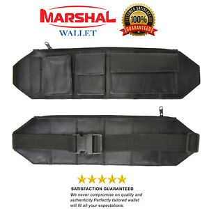 New Black Genuine Leather Slim Ultimate Style Utility Belt Waist Bag/Fanny Pack