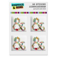 Ampersand & Floral Computer Case Modding Badge Stickers Set