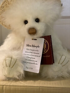 Miss Marple Charlie Bears Hattie Bear 11.5 inches with an adorable straw hat!