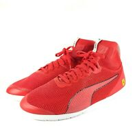 Puma Scuderia Ferrari Ignite Mens Red Mesh Sport Casual Trainers Size UK 7 EU 41