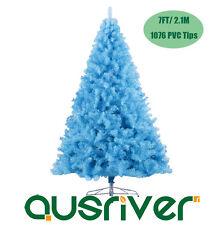 2.1M 7FT Sky Blue Christmas Tree Xmas Tree Metal Stand 1076 Tips Jupiter SKY210
