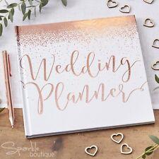 WEDDING PLANNER BOOK WITH ROSE GOLD DETAILS -Hardback Organiser -Engagement Gift