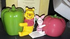 NIB Disney Winnie Pooh Piglet Salt & Pepper Shakers Garden Kitchen Table Decor