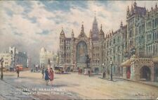 Westminster palace (parliament); statue Richard ceur de lion tucks oilette 3584