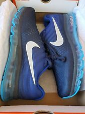 Nike Air Max 2017 Running Shoes Blue White 849559-400 Men's NEW Size 10