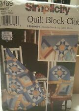 Simplicity Quilt Block Club Pattern Home Decor Variable Star & Cabin Blocks 9169