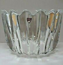 More details for orrefors fleur design crystal bowl from sweden - signed jan johansson