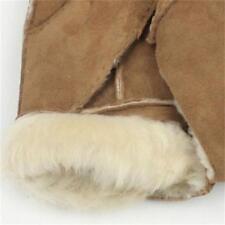 Brown Men Sheep Cold Solid Warm Gloves Winter Gloves Mittens Woolen Gloves