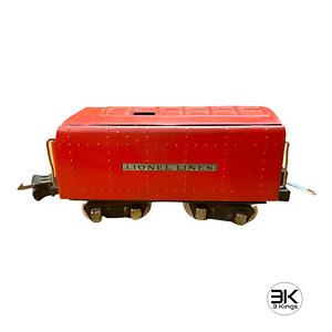 RED LIONEL TRAIN PREWAR COMMODORE VANDERBILT TENDER CAR 265W CHASSIS