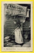 cpa Ecrite en 1906 MONT SAINT MICHEL (Manche) ENSEIGNE de l'HÔTEL POULARD Ainé