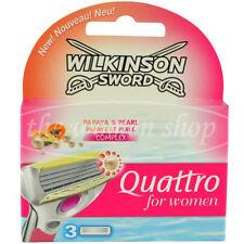 3 Wilkinson Quattro for women Rasierklingen Papaya Pearl Neu Original verpackt