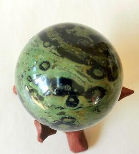 Kugel aus Kambaba Jaspis, Edelstein - 478 Gramm - 69 mm - Ei - Eldarit