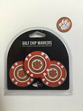 Clemson Tigers 3- PACK POKER CHIPS, with markers, BONUS EXTRA MARKER FREE