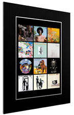 More details for mounted / framed print fleetwood mac discography - different sizes poster art