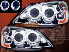 01-03 HONDA CIVIC PROJECTOR HEADLIGHTS CHROME 2/4 DOORS 2 HALO 2001 2002 2003
