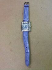^ Vintage Louis Arden Paris Quartz Wrist Watch, Stainless Steel, Genuine Leather