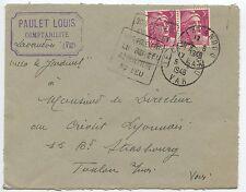 LETTRE TYPE SEMEUSE / DAGUIN / LE LAVANDOU VAR / STRASBOURG 1948