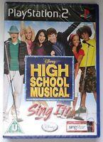 DISNEY HIGH SCHOOL MUSICAL SING IT PS2 SOLUS GAME NEW & SONY SEALED ORIGINAL UK