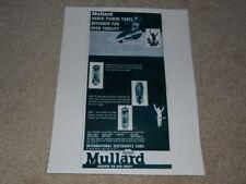 Mullard Tube Ad, 1956, 1 pg, EL-34, EL-37, El-84, Article, Info on each