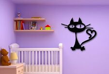 Wall Stickers Vinyl Decal Funny Cat Animal for Kids Room Nursery Pets (ig271)
