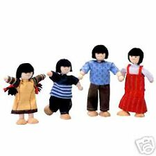 PLAN TOYS 4-pc ASIAN  Family for Doll Houses