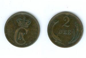 Dänemark   2 Öre 1874  Christian IX  sehr schön