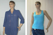 2 teiliges Set Bluse Shirt Top blau Damen ärmellos Langarm Größe 40 Paket