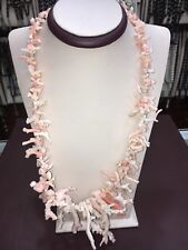 """Genuine Natural Coral Necklace 22.5"""""""