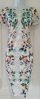 Womens Per Una Premium White Multi Guipure Lace Occasion Wiggle Dress 8 Vgc.