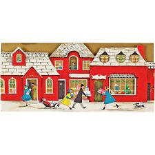 Vintage Unused Christmas Card Embossed Die Cut Mid Century Modern Famous Artists