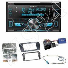 Kenwood DPX5000BT Radio + Seat Ibiza (Typ 6J) 2-DIN Seat Radioblende schwarz