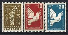 Bulgarie 1947 série de la paix Yvert n° 512 à 514 neuf ** 1er choix