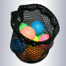 Nylon Mesh Nets Bag Pouch Golf Tennis 15 Ball Carrying Holder Storage Durable #