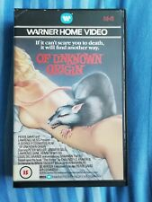 Of Unknown Origin VHS Video Rare Pre Cert Big Box Horror Warner Peter Weller