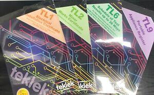 Teklek Electrical Test Certificate Books 17th Edition (TL1 TL2 TL6 TL9) EICR