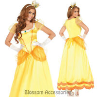 CA75 Leg Avenue Princess Peach Yellow Sunflower Daisy Mario Party Dress Costume
