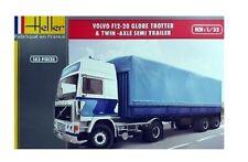 Heller 81703 1:32nd Volvo F12-20 Globetrotter Truck & Twin Axle semi Trailer