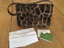 Fabulous! Authentic KATE SPADE Brown Giraffe Faux Fur Medium Handbag Purse