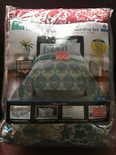 Mainstays Monique 8 Piece Paisley Twin/Twin XL Size Comforter Set