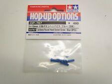 Tamiya 53767, 3x10mm Round Head Socket Screw (Blue/5Pcs/TRF). NIP